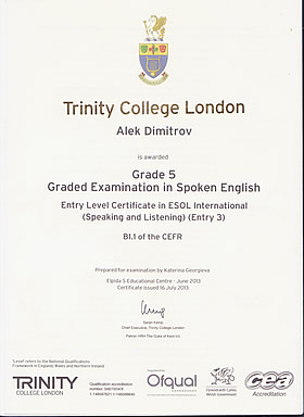 Trinity College London Graded Examination in Spoken English Grade 5