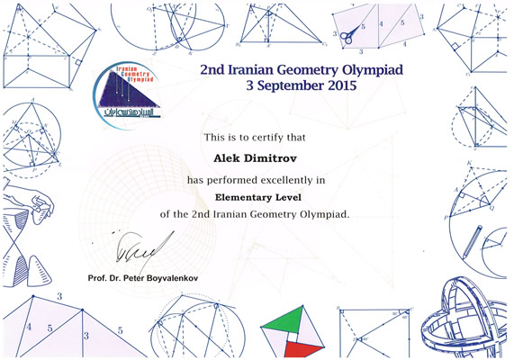 2nd Iranian Geometry Olympiad - excellent performance