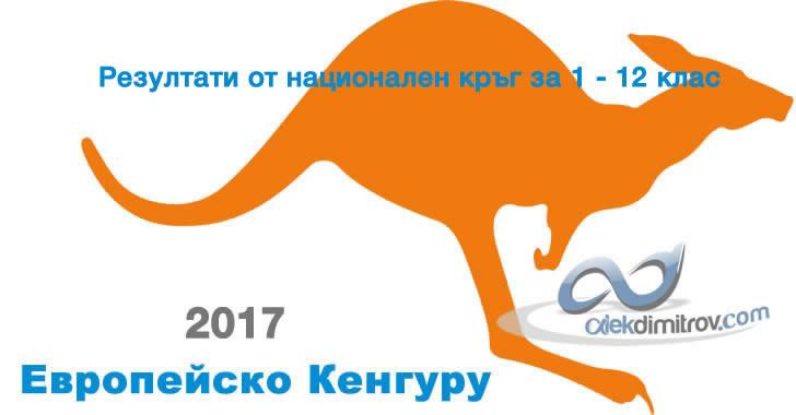 Резултати от национален кръг на Европейско Кенгуру 2017