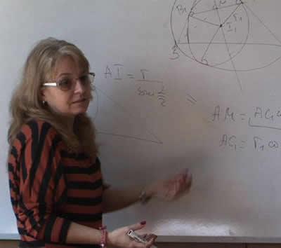 Ирина Шаркова поема математиката на 5 клас за учебната 2015 / 2016 в ПЧМГ