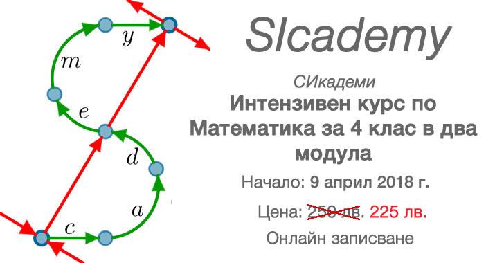 Априлски курсове по Математика за 4 клас от Сикадеми